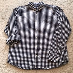 Gap poplin gingham comet blue, cotton button up, L